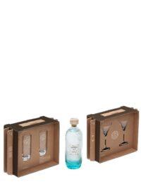 ISLE OF HARRIS Gin with 2 Martini x 2 Highball glasses