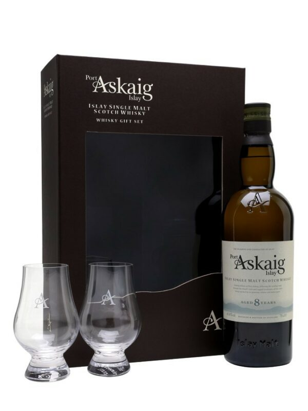 PORT ASKAIG 8 YO + 2 glasses
